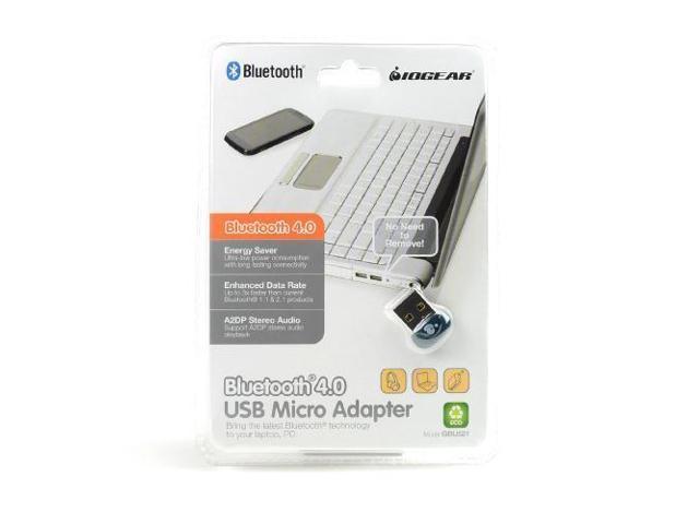 IOGEAR Blue/silver Bluetooth 4.0 USB Micro Adapter - Gbu521