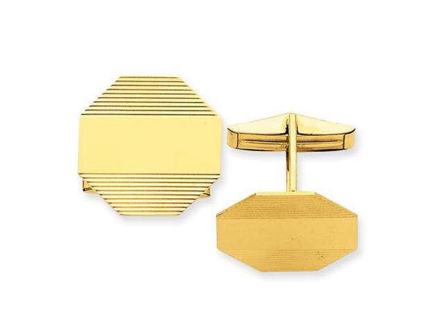 Cuff Links in 14k Yellow Gold