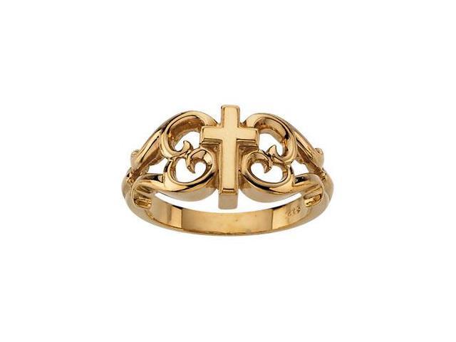 Cross Ring in 14k Yellow Gold
