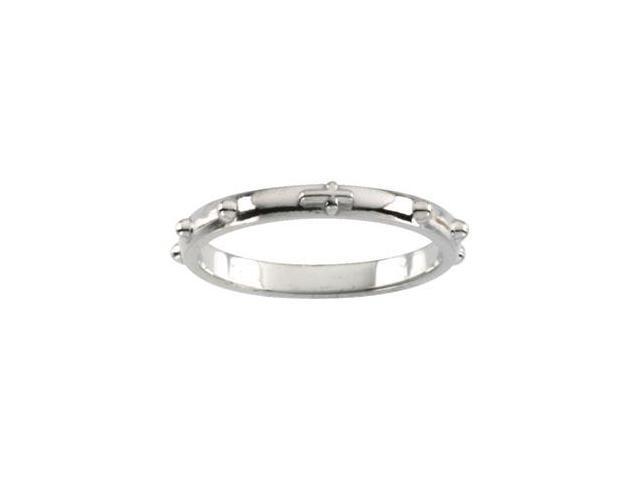 rosary ring in 14k white gold newegg