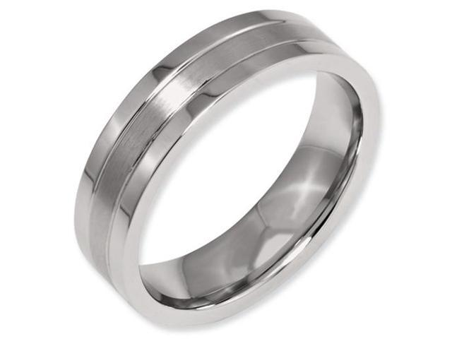 Flat Satin Wedding Band (6.00 mm)