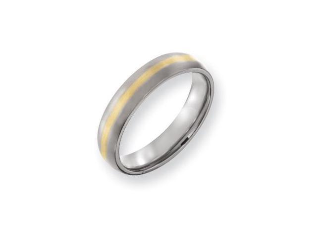 Gold Inlay Wedding Band (5.00 mm)