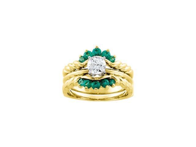 emerald bridal ring enhancer newegg