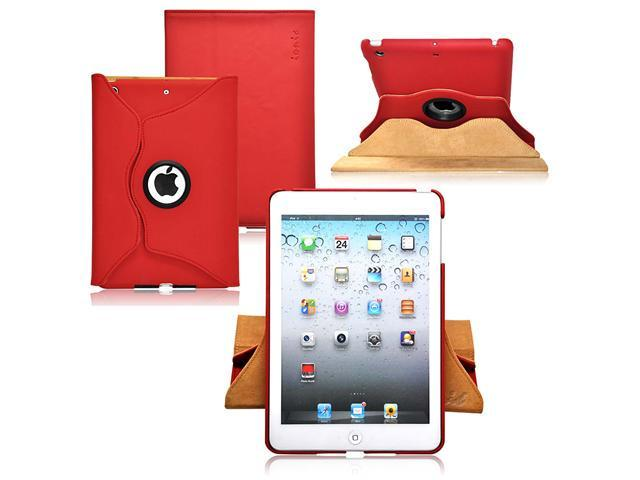 Ionic Rotating Stand Leather Case for New Apple iPad Mini 7.9 inch / the iPad Mini 7 Inch / built-in Stand for Apple iPad Mini 7.9 inch Latest Generation 4G LTE (Red)