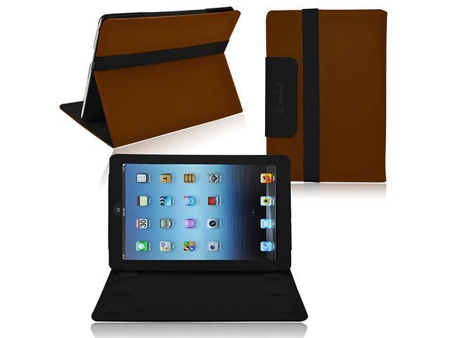 Ionic 2-Tone Designer Leather Case Cover with stand for New Apple iPad Mini 7.9 inch / the iPad Mini 7 Inch / built-in Stand for Apple iPad Mini 7.9 inch Latest Generation 4G LTE (Brown/ Black)