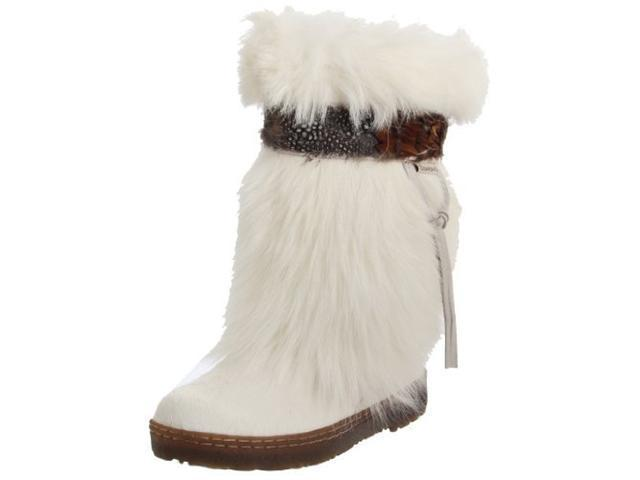 BEARPAW Women's Kola II Mid-Calf Boot,White,6 M Us