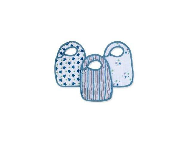 aden + anais 3 Pack Nibble Snap Bibs, Prince Charming