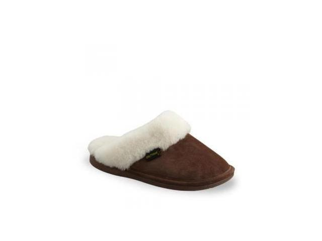 Old Friend Women's 441169 Scuff Sheepskin Slipper,Chestnut