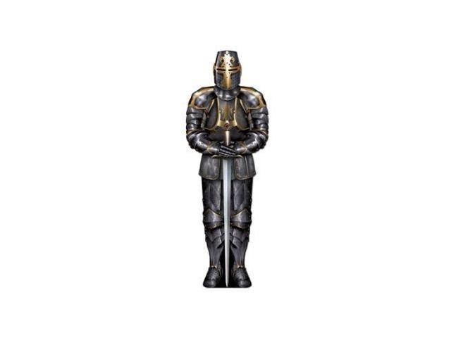 Jointed Black Knight 6' Party Accessory