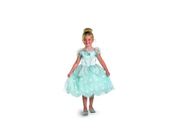 Disney Princess Cinderella Light Up Deluxe Costume, Blue, X-Small