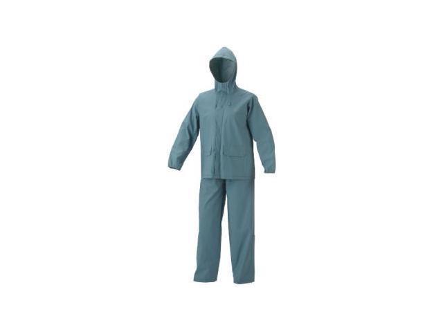 Coleman Womens PVC/Poly Rain Suit, Light Blue, X-Large