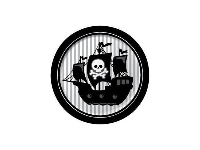 Creative Converting Pirate Parrty Round Dinner Plates, 8 Count