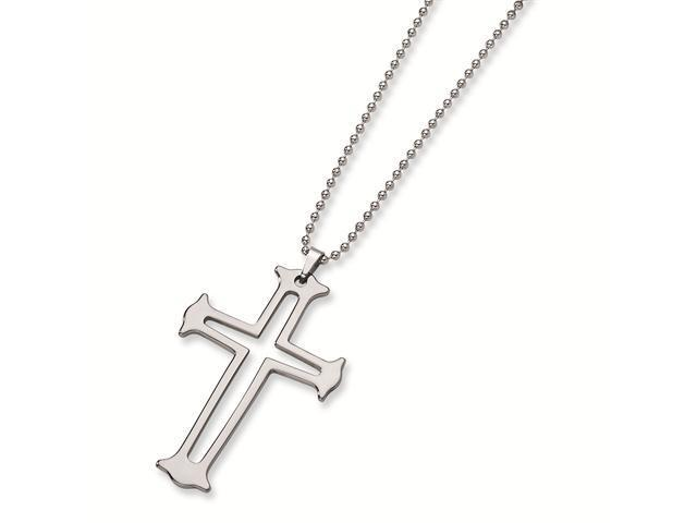 Genuine Chisel (TM) Necklace. Tungsten Cross Necklace. 100% Satisfaction Guaranteed.