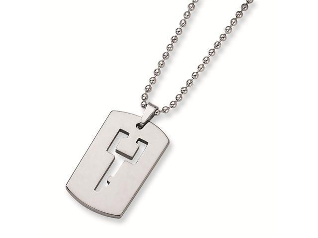 Genuine Chisel (TM) Necklace. Tungsten Dog Tag with Key Cut-out Necklace. 100% Satisfaction Guaranteed.