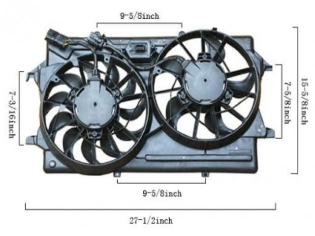 APDI Dual Radiator and Condenser Fan Assembly 6018131