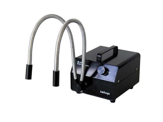 150W Dual Goose-Neck Fiber Optic Illuminator (Black)
