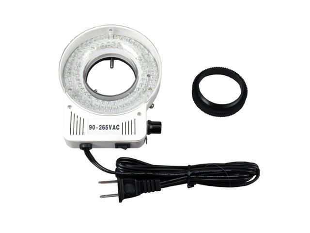 AmScope 80 LED Microscope Compact Ring Light with Built-in Dimmer