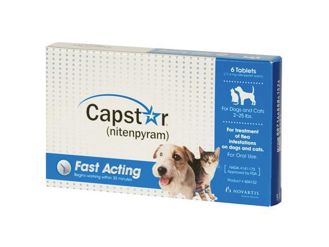 Novartis CAP-SM Capstar Flea Treatment for Dogs and Cats 2-25 lbs 6pk