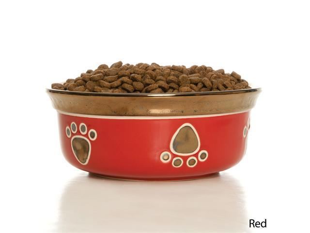 Ethical Pet Ritz Copper Rim Dog Dish, Black, 7 Inch - 6885