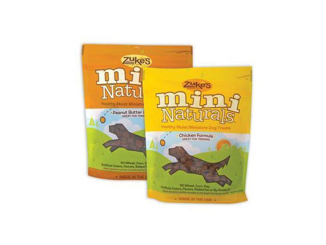 Zukes Pet Dog Treat Mini Naturals Moist Peanut Butter 6Oz