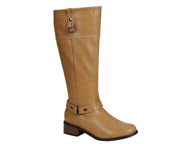 Beautiful WOMENS KNEE LENGTH FASHION BOOTS LADIES RIDING BIKER