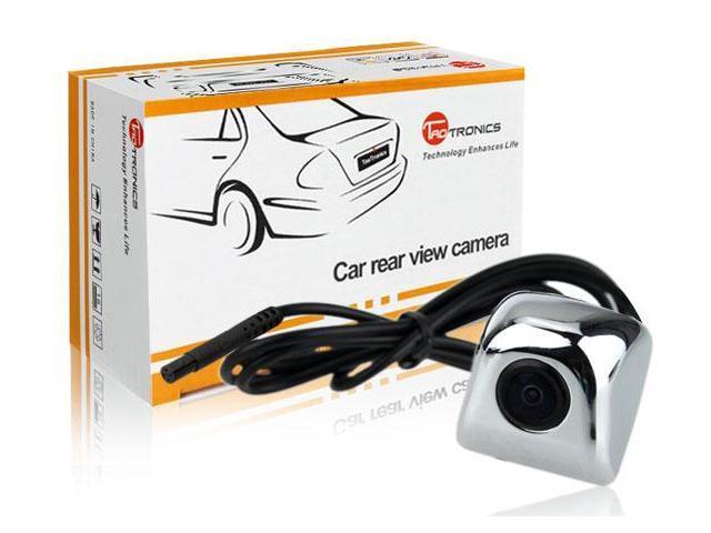 TaoTronics TT-CC04 Universal Car Rear View Flush Mount Backup Camera (Waterproof IP67 / Color CMOS / 170 Degree Viewing Angle / Silver)