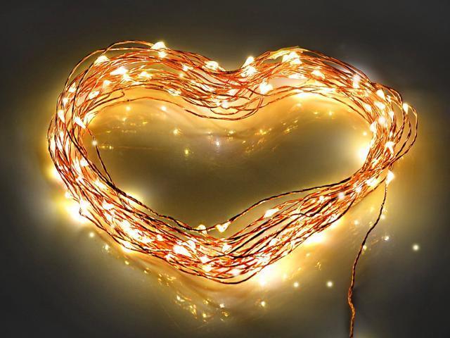 TaoTronics TT-SL032 Led String Lights 100 LED Warm White Color on Copper Wire 33ft LED Starry ...