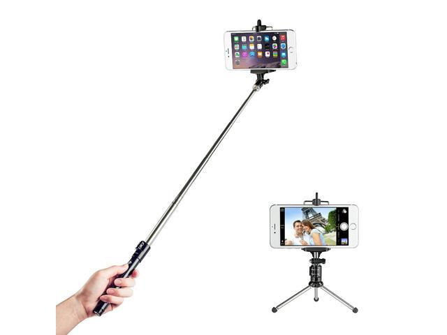 taotronics bluetooth shutter selfie stick with tripod for ios and android smartphone. Black Bedroom Furniture Sets. Home Design Ideas