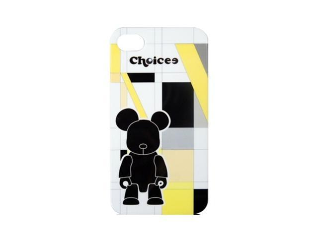 CHOICEE X QEE IPHONE4 FACEPLATE STRIPE YELLOW BLACKBEAR (RETAIL)