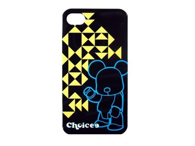 CHOICEE X QEE IPHONE4 FACEPLATE GEOMETRY BLACK (RETAIL)