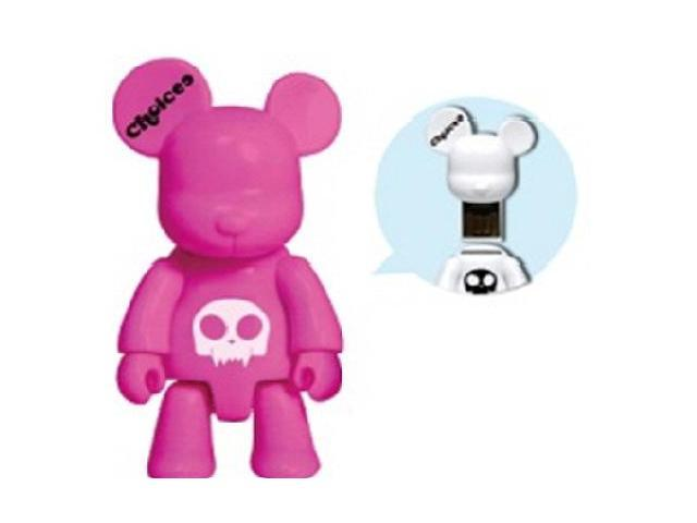 Choicee X Qee Bear 8GB USB 2.0 Flash Drive Pink