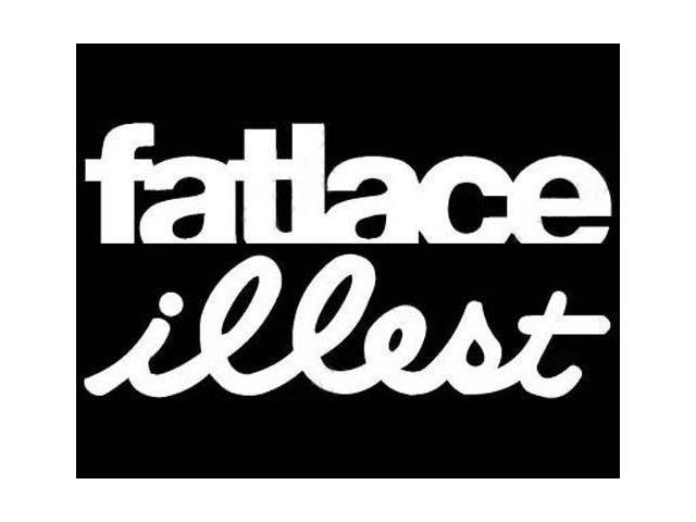 """(1) iJDMTOY Euro JDM Style """"Fatlace illest"""" Combo Die-Cut Decal Vinyl Stickers"""