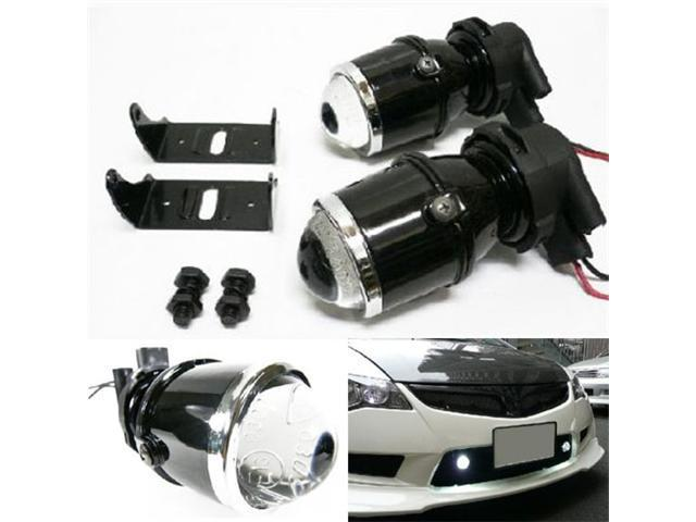 iJDMTOY Universal Fit HID Ready Optical Projector Fog Light Lamps