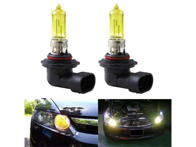 iJDMTOY 3000K Super Yellow 9005 HB3 Halogen High Beam Daytime Running Light Bulbs