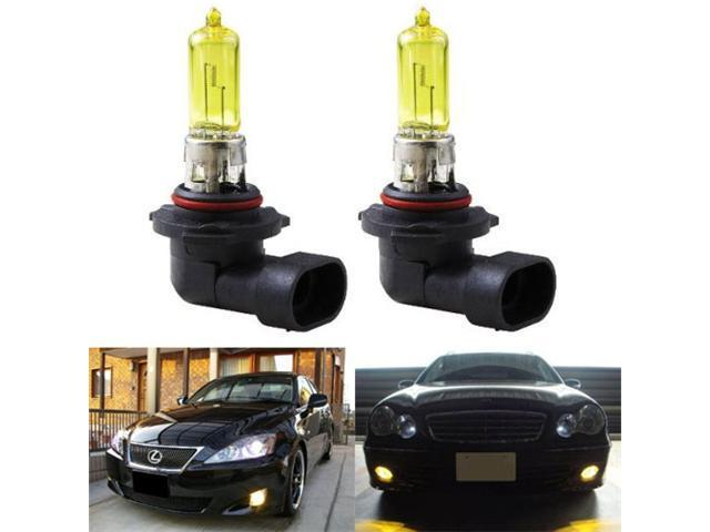 iJDMTOY 3000K Super Yellow 9145 H10 Halogen Fog Light Bulbs