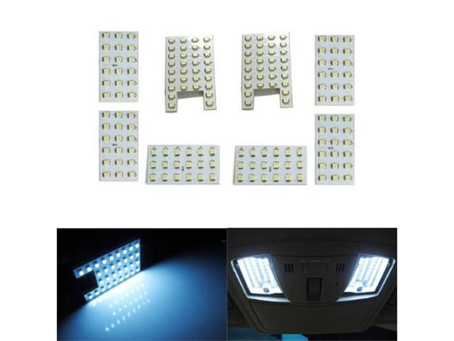 iJDMTOY 172-SMD 8-Piece Vehicle Specific Exact Fit Full LED Interior Light Package For Infiniti FX35 FX50 QX56, Xenon White
