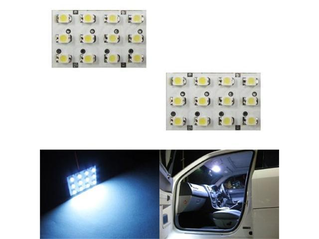 iJDMTOY 12-SMD LED Interior Map Dome Panel Lights, Xenon White