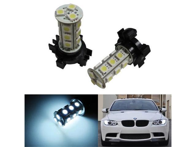iJDMTOY Canbus Error Free 18-SMD PY24W LED Turn Signal Light Bulbs, Xenon White