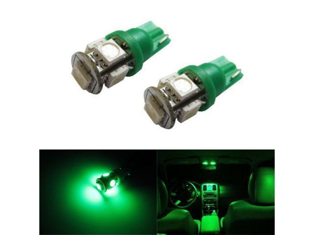 iJDMTOY 5-SMD 168 194 2825 T10 LED Car Interior Map Dome Light Bulbs, Emerald Green