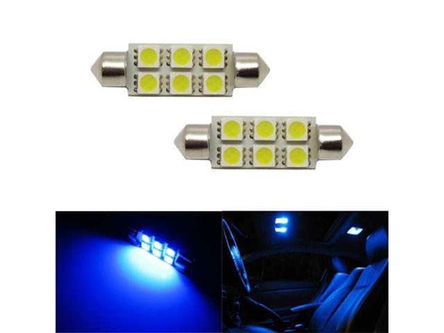 iJDMTOY 6-SMD 1.72 inches 211-2 578 LED Interior Map Dome Lights, Ultra Blue
