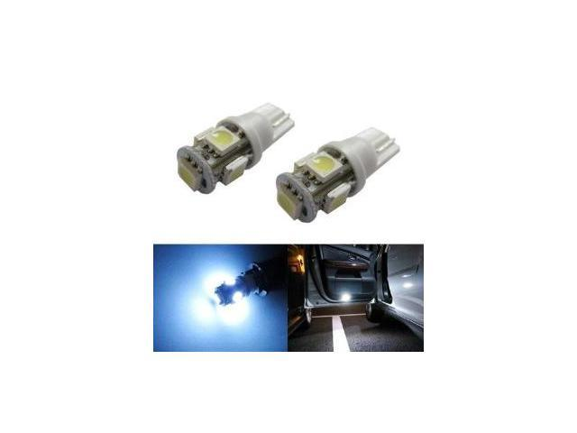 iJDMTOY 5-SMD-5050 168 194 2825 T10 LED Bulbs For Car Side Door Courtesy Lights or Foot Area Lights, Xenon White