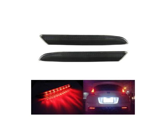 Honda CR-Z CR-V Insight Acura TSX Wagon Black Smoked Lens LED Bumper Reflector Lights
