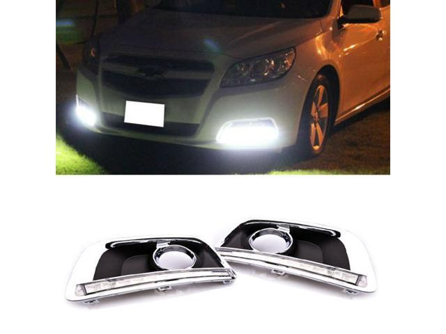 Fit 2013-2014 Chevy Malibu High Power 12-LED Daytime Running Lights DRL Lamps Kit