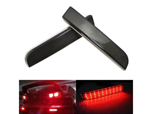 Mitsubishi Lancer or Evolution X Black Smoked Lens LED Bumper Reflector Lights