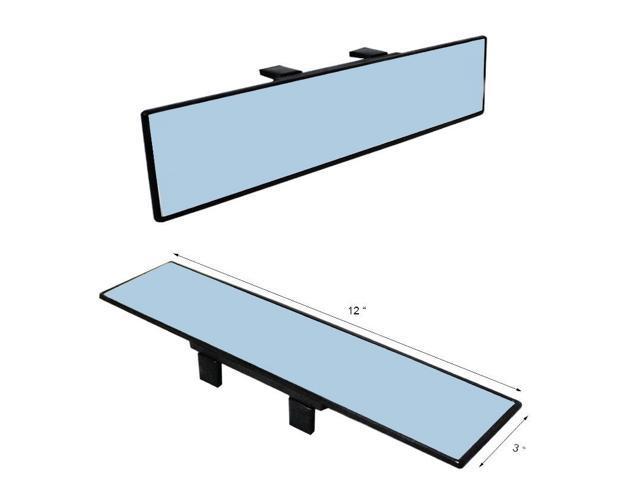 JDM 300mm Wide Anti-Glare Blue Tint Flat Clip On Rear View Mirror - Fit All Car