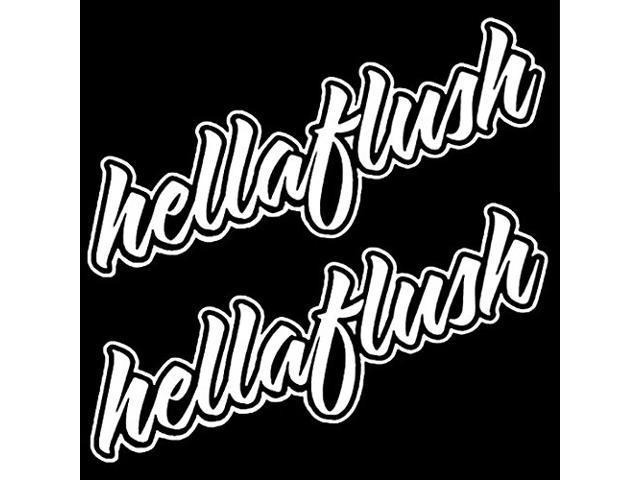 (Pack of 2) iJDMTOY Cool JDM Hellaflush Hella Flush Die-Cut Decal Vinyl Stickers