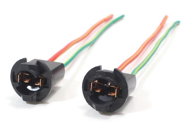 iJDMTOY 168 194 2825 W5W Wiring Harness Sockets For LED Bulbs, Parking Lights, License Plate Lights