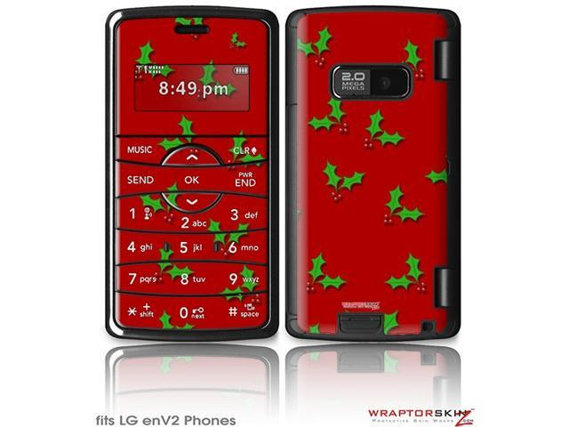 LG enV2 Decal Style Skin - Christmas Holly Leaves