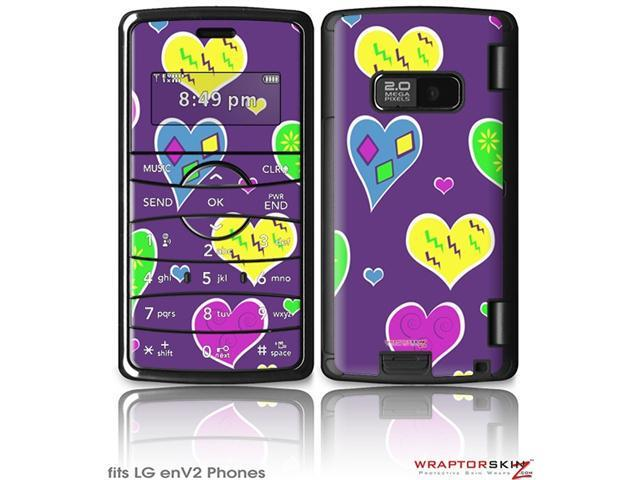 LG enV2 Decal Style Skin - Crazy Hearts