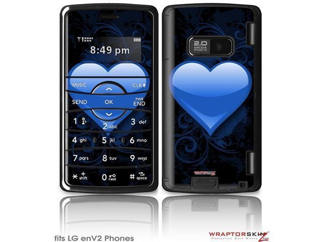 LG enV2 Decal Style Skin - Glass Heart Grunge